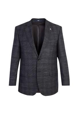 Erkek Giyim - Antrasit 50 Beden Ekose Klasik Ceket