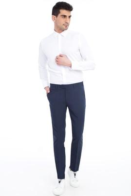 Erkek Giyim - KOYU MAVİ 50 Beden Slim Fit Klasik Pantolon