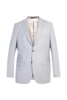 Erkek Giyim - Açık Gri 62 Beden İtalyan Yün Balıksırtı Ceket