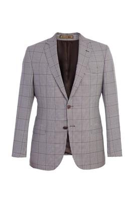 Erkek Giyim - Kahve 64 Beden İtalyan Ekose Ceket