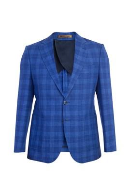 Erkek Giyim - Açık Mavi 48 Beden Slim Fit İtalyan Keten Ceket