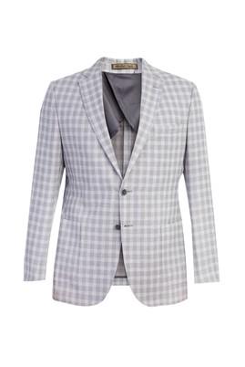 Erkek Giyim - Açık Gri 50 Beden İtalyan Keten Ceket