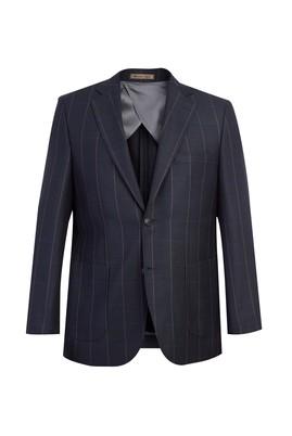 Erkek Giyim - Antrasit 48 Beden Ekose Ceket