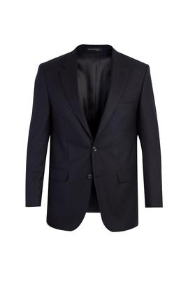 Erkek Giyim - Siyah 48 Beden İtalyan Desenli Ceket