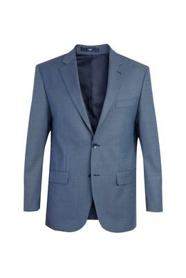 Erkek Giyim - Petrol 50 Beden Kuşgözü Ceket