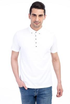 Erkek Giyim - Beyaz 3X Beden Iceberg Polo Yaka Tişört