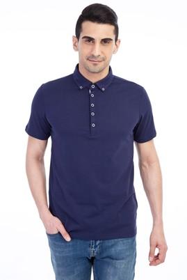 Erkek Giyim - Lacivert 3X Beden Flora Polo Yaka Tişört