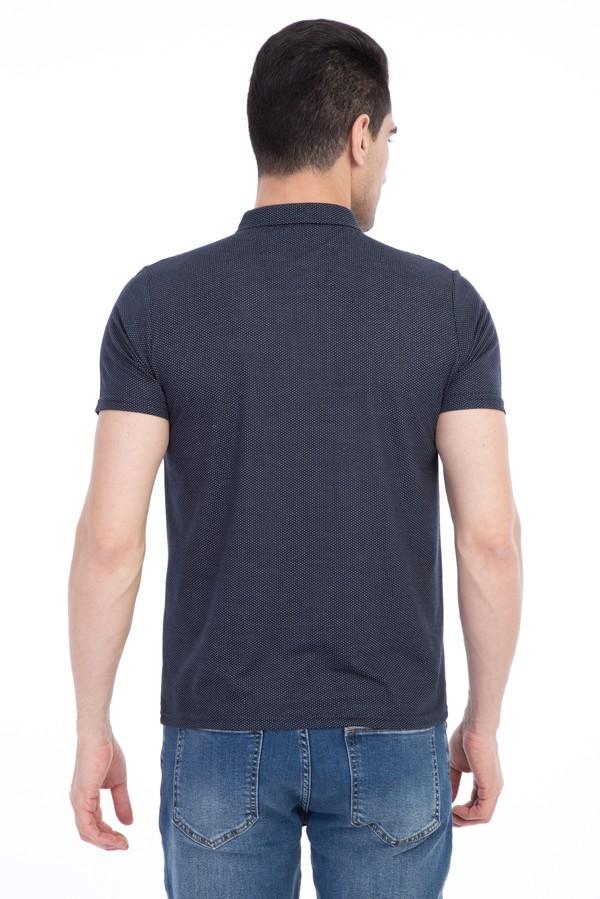 İtalyan Yaka Desenli Slim Fit Tişört