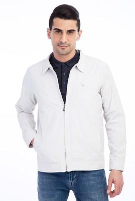 Erkek Giyim - Kum 50 Beden Mevsimlik Klasik Mont