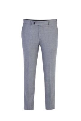 Erkek Giyim - Açık Gri 48 Beden İtalyan Yün Flanel Pantolon