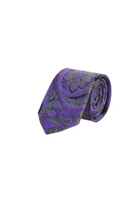 Erkek Giyim - Mor  Beden Desenli Kravat