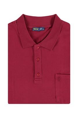 Erkek Giyim - Bordo 4X Beden King Size Polo Yaka Regular Fit Tişört