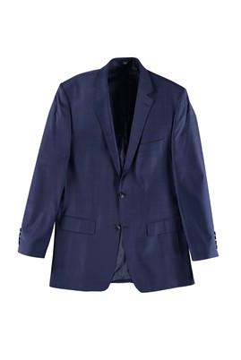 Erkek Giyim - Lacivert 60 Beden Klasik Ekose Ceket