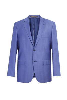 Erkek Giyim - Mavi 50 Beden İtalyan Balıksırtı Ceket