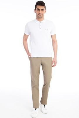 Erkek Giyim - Bej 48 Beden Slim Fit Spor Pantolon