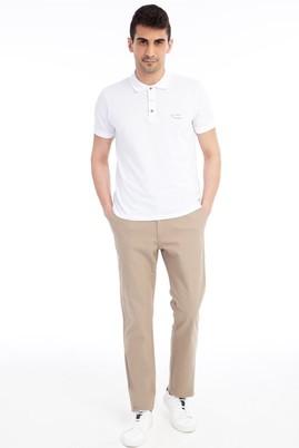 Erkek Giyim - Açık Kahve - Camel 56 Beden Spor Gabardin Pantolon