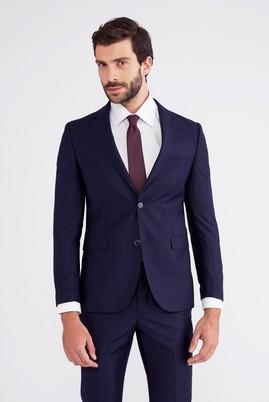 Erkek Giyim - Lacivert 48 Beden Slim Fit Takım Elbise