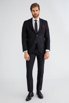 Erkek Giyim - SİYAH 46 Beden Slim Fit Takım Elbise