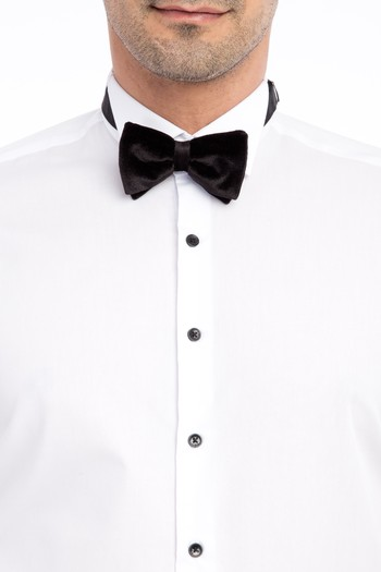 Erkek Giyim - Ata Yaka Slim Fit Kolay Ütülenir Gömlek