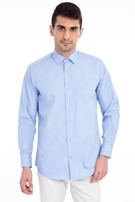 Erkek Giyim - Mavi 3X Beden Uzun Kol Klasik Gömlek