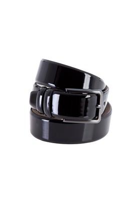 Erkek Giyim - Siyah 125 Beden Klasik Rugan Kemer