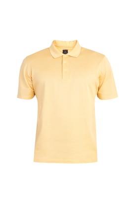 Erkek Giyim - Sarı L Beden Regular Fit Merserize Polo Yaka Tişört