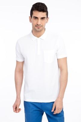 Erkek Giyim - Beyaz XXL Beden Regular Fit Polo Yaka Tişört