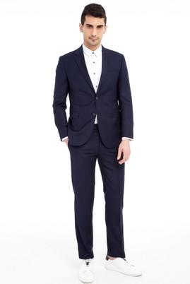 Erkek Giyim - Lacivert 54 Beden Slim Fit Takım Elbise