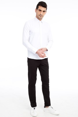 Erkek Giyim - Siyah 46 Beden Slim Fit Spor Pantolon