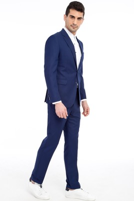 Erkek Giyim - Mavi 46 Beden Slim Fit Takım Elbise