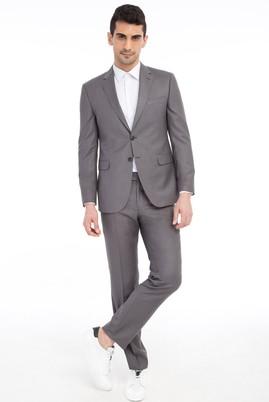 Erkek Giyim - Orta füme 52 Beden Slim Fit Takım Elbise