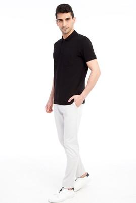 Erkek Giyim - Krem 46 Beden Slim Fit Spor Pantolon