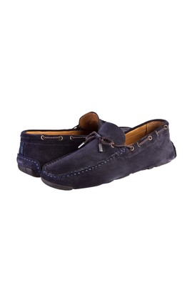 Erkek Giyim - Lacivert 42 Beden Süet Loafer Ayakkabı
