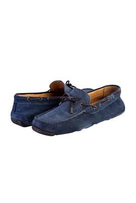 Erkek Giyim - Mavi 43 Beden Süet Loafer Ayakkabı
