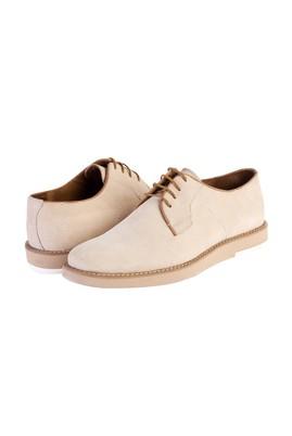 Erkek Giyim - Krem 43 Beden Bağcıklı Nubuk Casual Ayakkabı