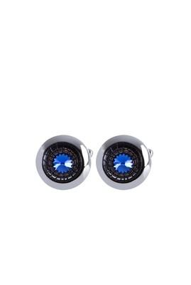 Erkek Giyim - Mavi STD Beden Taşlı Kol Düğmesi