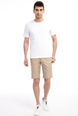 Erkek Giyim - Kum 54 Beden Slim Fit Spor Bermuda Şort