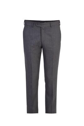 Erkek Giyim - FÜME GRİ 56 Beden Klasik Desenli Pantolon