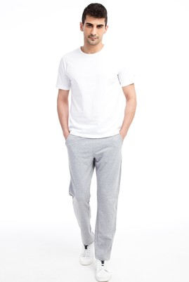 Erkek Giyim - Orta füme XXL Beden Slim Fit Spor Sweatpant / Eşofman