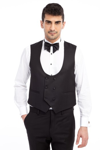 Slim Fit Şal Yaka Desenli Smokin / Damatlık