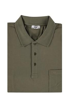 Erkek Giyim - HAKİ 6X Beden King Size Polo Yaka Regular Fit Tişört