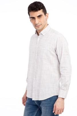 Erkek Giyim - Kahve 3X Beden Uzun Kol Spor Gömlek