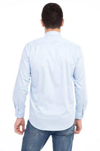 Erkek Giyim - Uzun Kol Non Iron Saten Klasik Gömlek