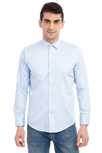 Uzun Kol Non Iron Saten Slim Fit Gömlek