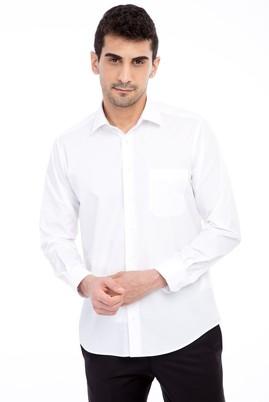 Erkek Giyim - Beyaz M Beden Uzun Kol Cool Max Slim Fit Gömlek