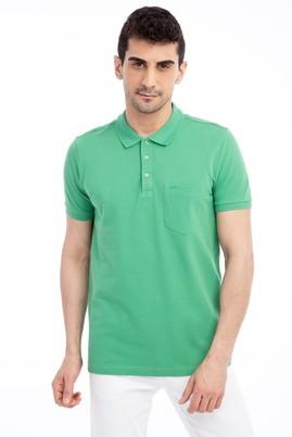 Erkek Giyim - Acık Yesıl L Beden Polo Yaka Regular Fit Tişört
