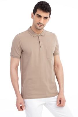 Erkek Giyim - VİZON S Beden Polo Yaka Regular Fit Tişört