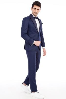 Erkek Giyim - Lacivert 52 Beden Slim Fit Şal Yaka Smokin / Damatlık