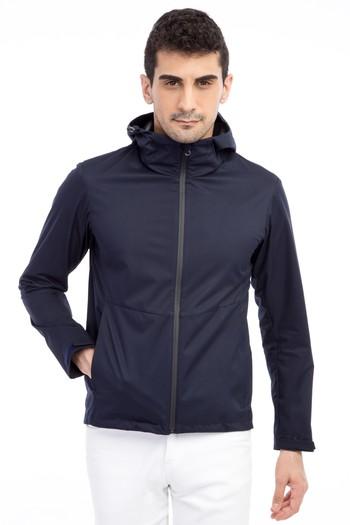 Erkek Giyim - Kapüşonlu Bonded Mont