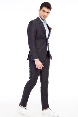 Erkek Giyim - Antrasit 50 Beden Slim Fit Takım Elbise